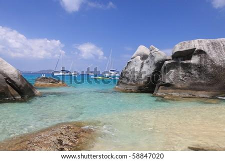 Famous The Baths on Virgin Gorda, British Virgin Islands - stock photo