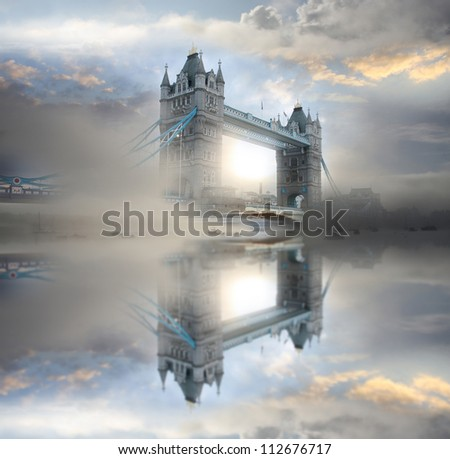 Famous Tower Bridge in the morning, London, England - stock photo