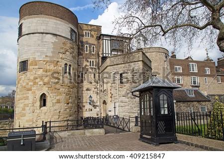 Famous Tower of London, United Kingdom - stock photo
