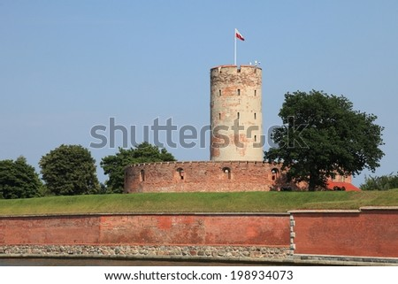 Famous Wisloujscie fortress in Gdansk, Poland outdoor Polish Danzig, Danzing - stock photo