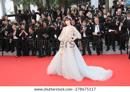 Fan Bingbing attends the 'Mad Max : Fury Road' Premiere during the 68th annual Cannes Film Festival on May 14, 2015 in Cannes, France. - stock photo