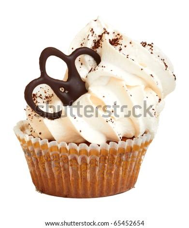 Fancy Cake isolated on white background - stock photo