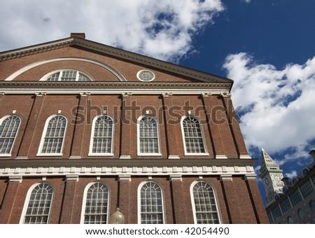 Faneuil Hall, Boston - stock photo