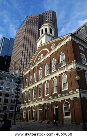 Faneuil Hall of Boston - stock photo