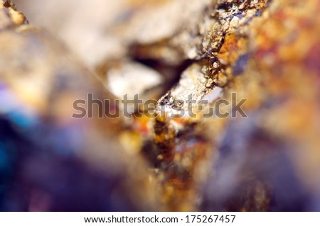 Fantastic background, magic of a stone, gold metal (big collection) - stock photo