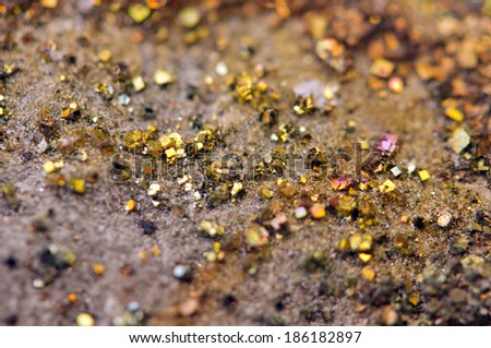 Fantastic background, magic of a stone, rainbow in metal rock (big collection ).Macro - stock photo