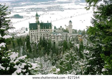 Fantastic castle - stock photo