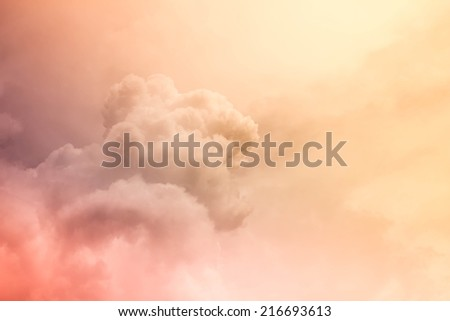 Fantastic cloud - stock photo