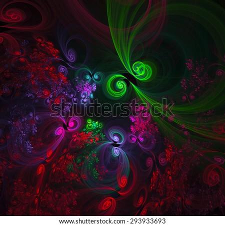 Fantastic Garden abstract illustration - stock photo