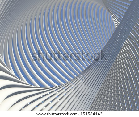 Fantastic modern shapes design. Abstract curves conceptual background - stock photo