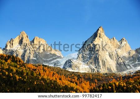 fantastic mont blanc - stock photo