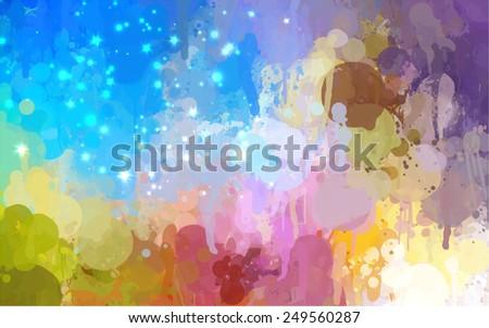 Fantastic sky brush strokes background. Raster version - stock photo