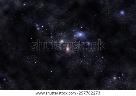 fantastic space (Elements of this image furnished by NASA) - stock photo