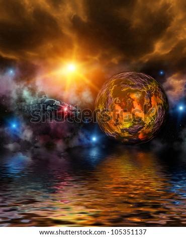 Fantastic Universe - stock photo
