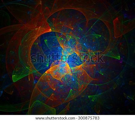 Fantastic World abstract illustration - stock photo