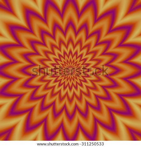 Fantasy abstract flower background - motion illusion - stock photo