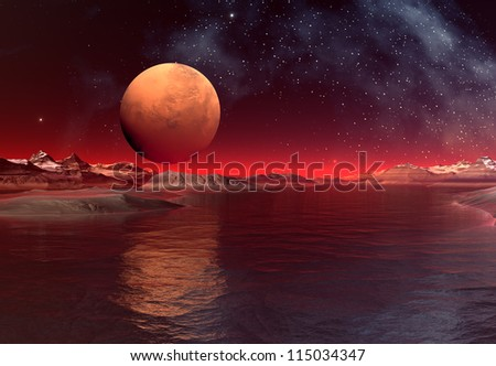 Fantasy Alien Planet - stock photo