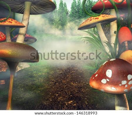 Fantasy Backdrop - stock photo