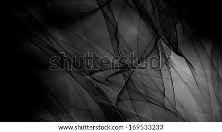 Fantasy black and white wide image card wallpaper design - stock photo