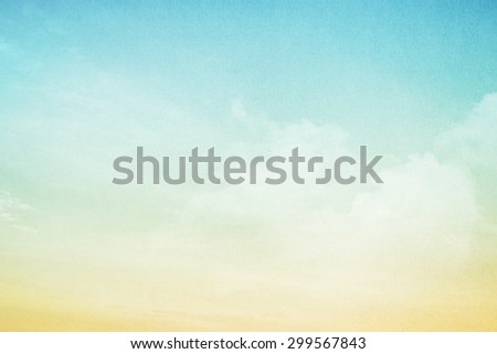 fantasy cloud and sky in gradient color abstract background with grunge paper  texture - stock photo