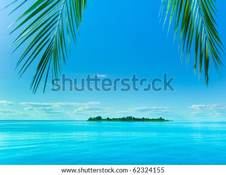 Fantasy Island Beckoning - stock photo