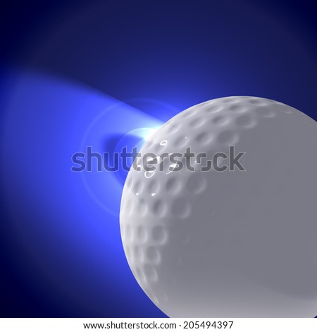 Fantasy Planet of  golf players  - stock photo