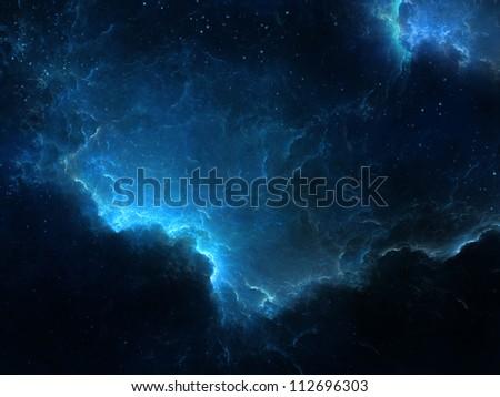 Fantasy space scene - stock photo