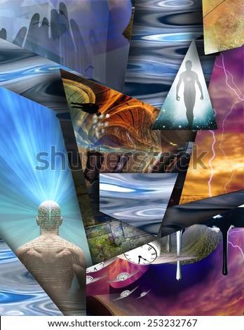 Fantasy Surreal Composition - stock photo