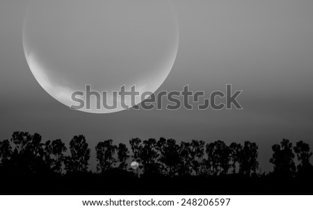 Fantasy world.Image of earth planet. Elements of this image are furnished by NASA - stock photo