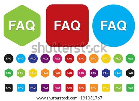 FAQ button - stock photo