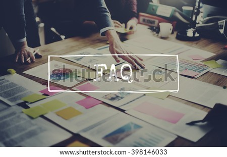 Faq Feedback Frequently Asked Questions Concept - stock photo