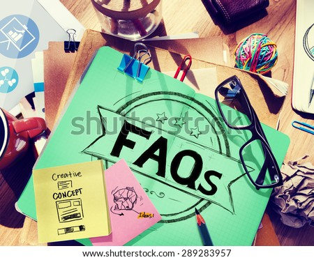 Faq Frequently Asked Questions Guidance Explanation Concept - stock photo