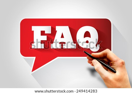 FAQ, question and answer message bubble, business concept - stock photo