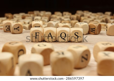 FAQS word concept - stock photo