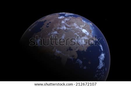 Far away terra - stock photo