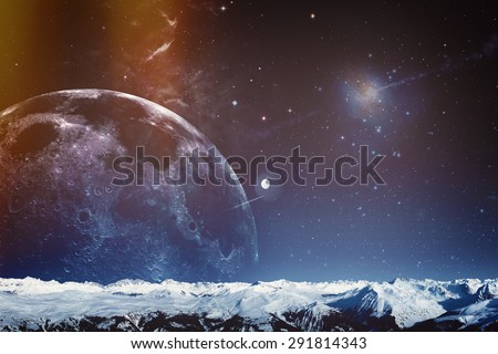 Far away. Universe. Abstract science backgrounds. NASA imagery used - stock photo