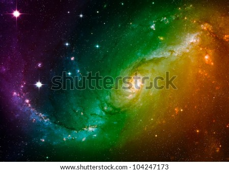 Far space color nebula as abstract background - stock photo