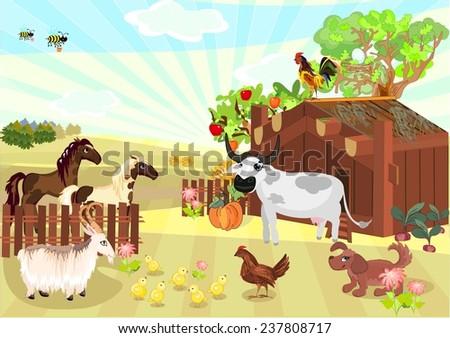 Farm animals - stock photo