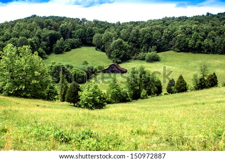 Farm at Leighton, Estill County, Kentucky - stock photo