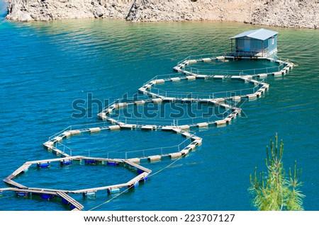 farm fishing - stock photo