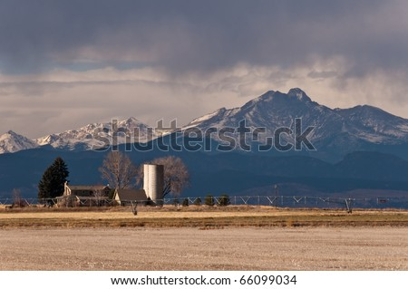 Farm House Near Longs Peak - stock photo