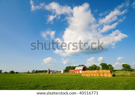 Farm in Central Indiana - stock photo
