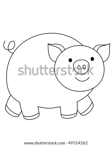 farm pig - stock photo