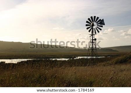 Farm windmill, Australia - stock photo