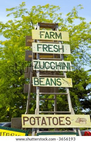 farmer's market - stock photo