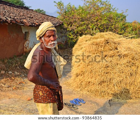Farmers of India, who work in farms generation to generation - stock photo