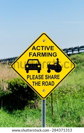 Farming Sign - stock photo