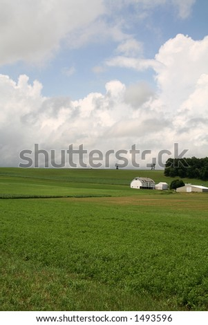 Farmland Hills - 4 - stock photo