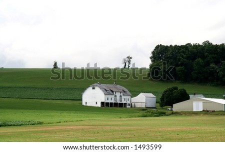 Farmland Hills - 7 - stock photo