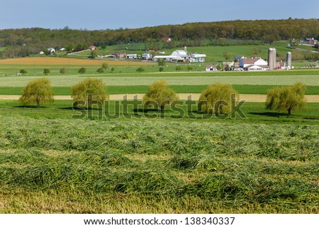 Farmland in Lancaster county, Pa dutch country - stock photo